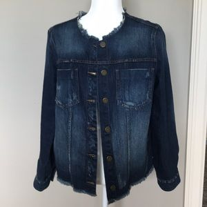 Who What Wear Non Collared Denim Jacket Size L